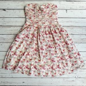 TRIXXI Floral Boho Country Strapless Mini Dress 5